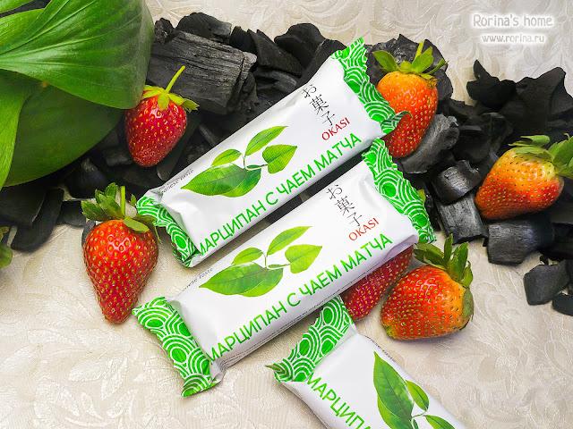 Батончик марципановый Okasi с зеленым чаем матча: отзывы