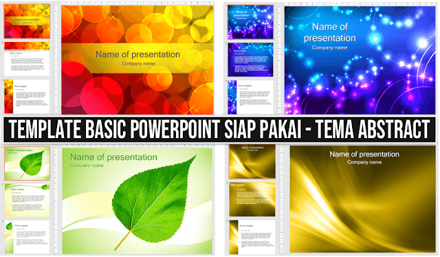 Template PowerPoint tema Abstrak