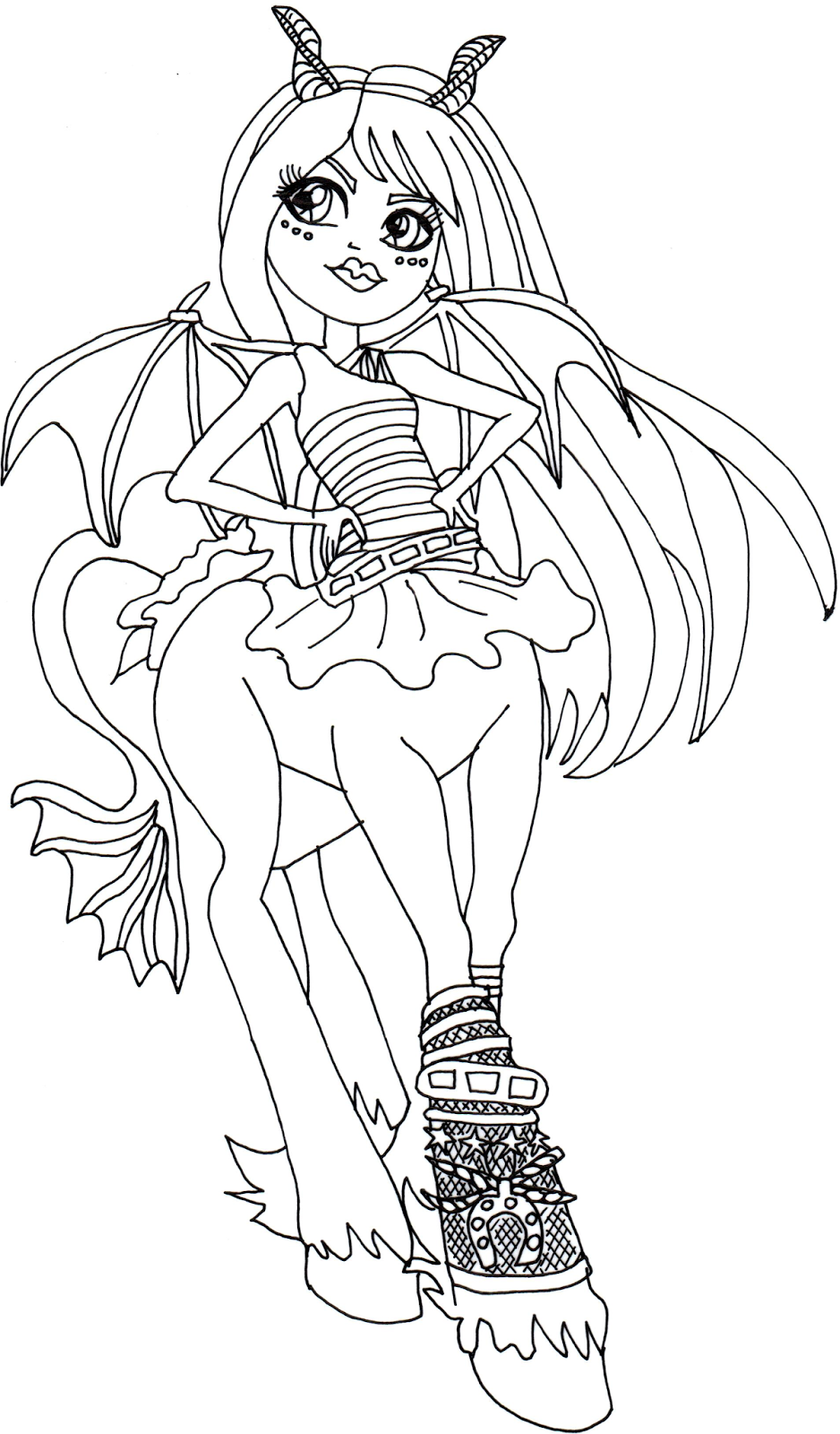 Free Printable Monster High Coloring Pages: Frets