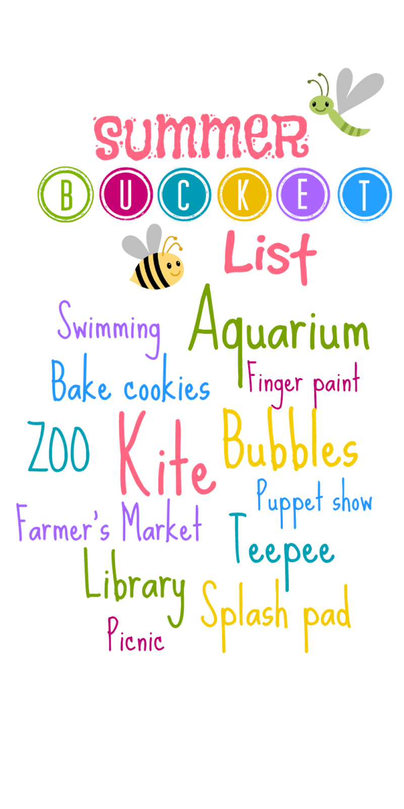 Summer Bucket List for Toddlers via Spit and Sparkles Blog #summer #fun #toddlers #outdoorplay