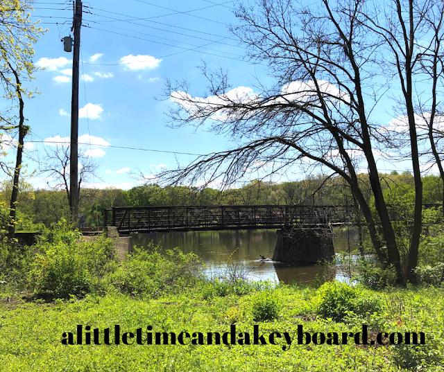 Fox River Bike Trail bridge over to Tekakwitha from Jon Duerr Forest Preserve.