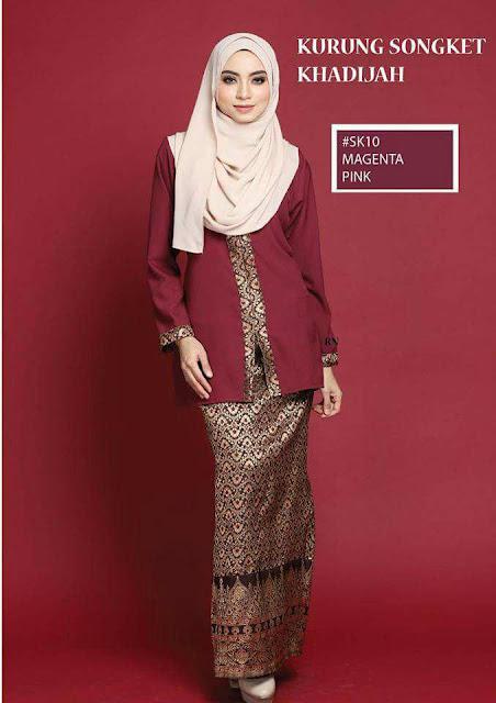 baju kurung songket khadijah koleksi raya terkini online
