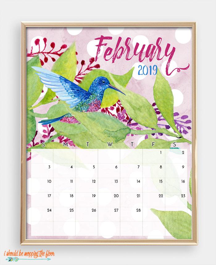 February Bird Calendar