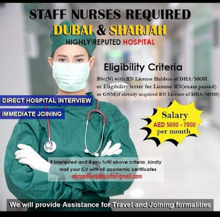 Staff nurses required