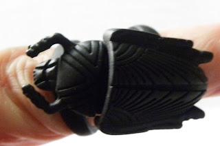 Black scarab ring modern from ASOS