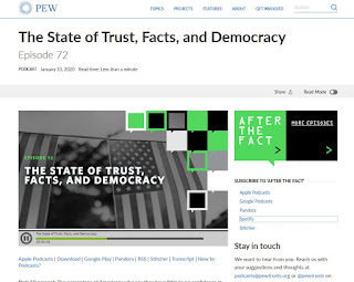 PEW: The State of Trust, Facts, and Democracy