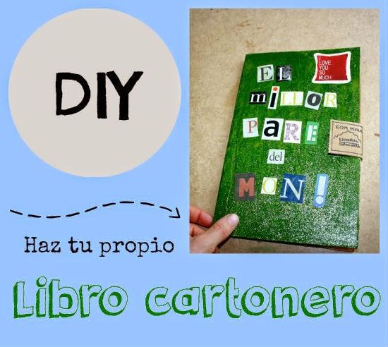 DIY cartel haz tu propio libro cartonero