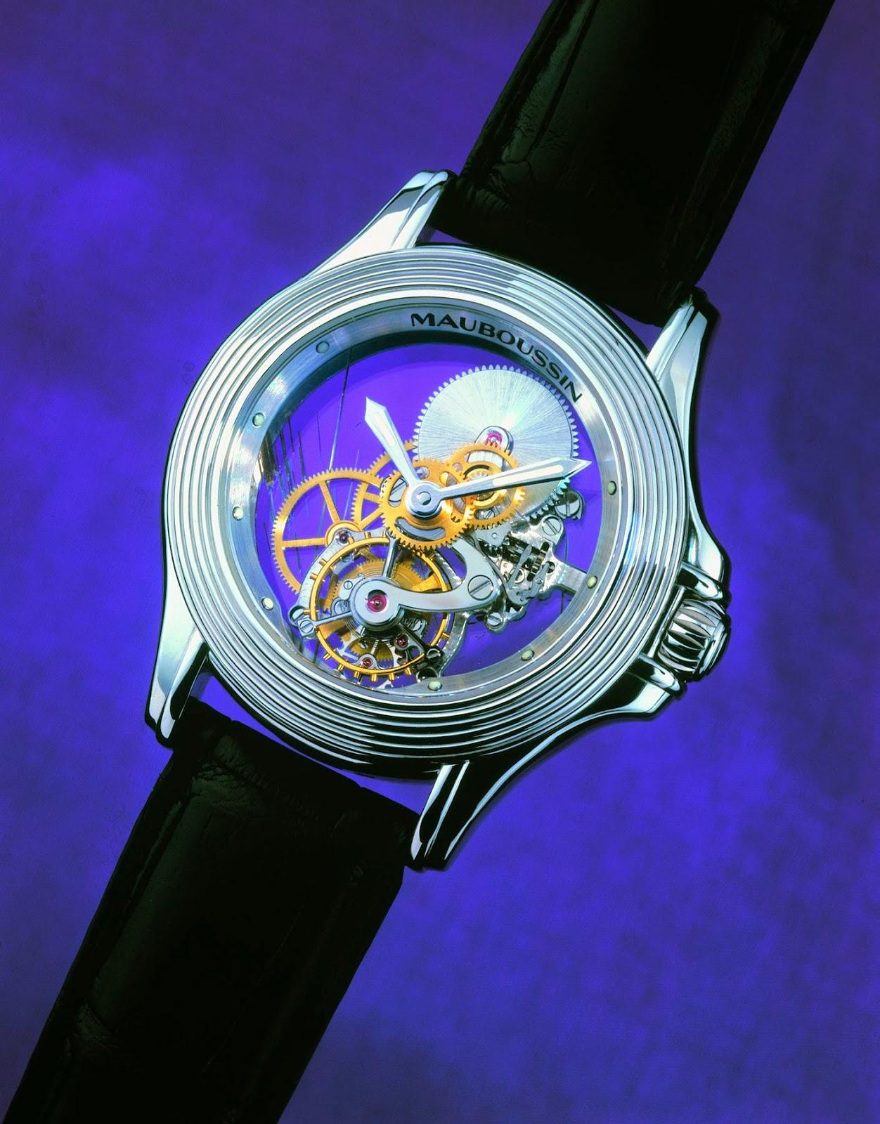 MAUBOUSSIN Montre Tourbillon Transparente watch