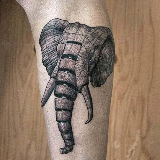 robot elephant tattoo