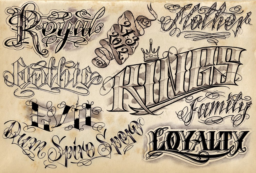 tattoo lettering ideas