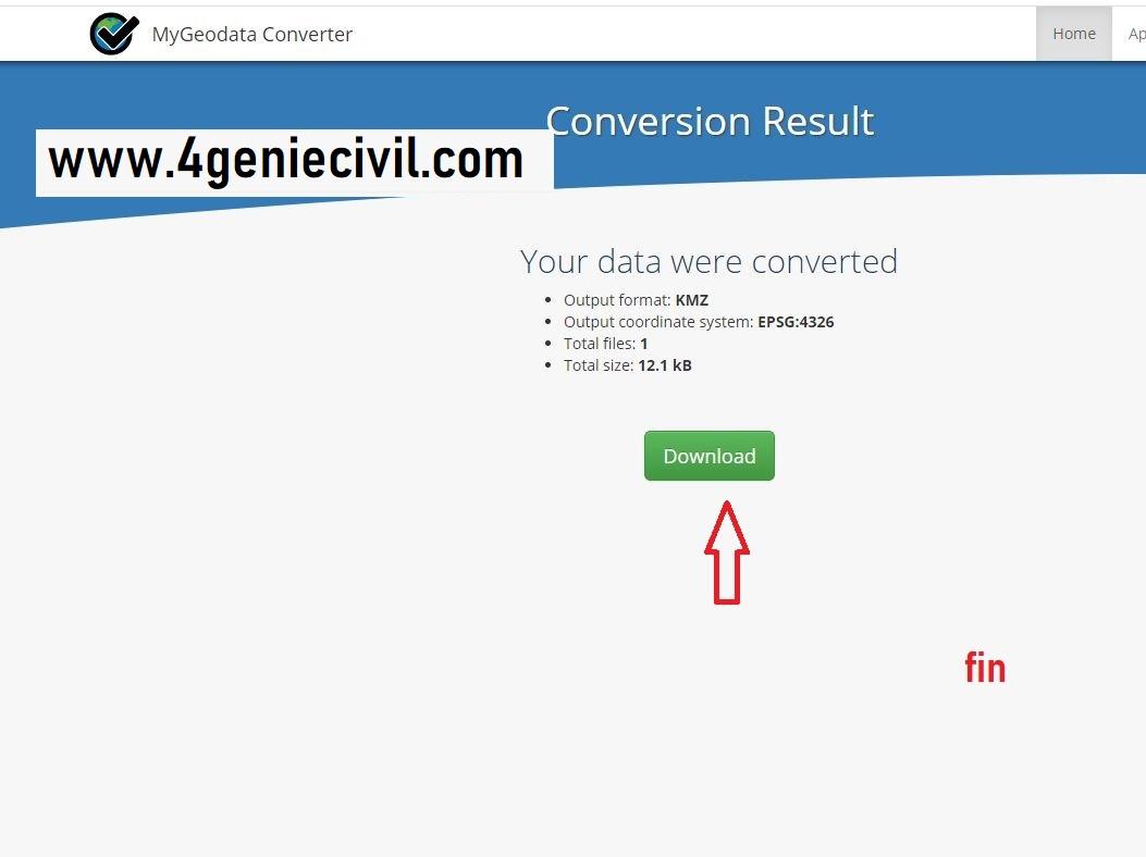 convertir un fichier autocad dwg à kmz ou kml pour google earth (1)