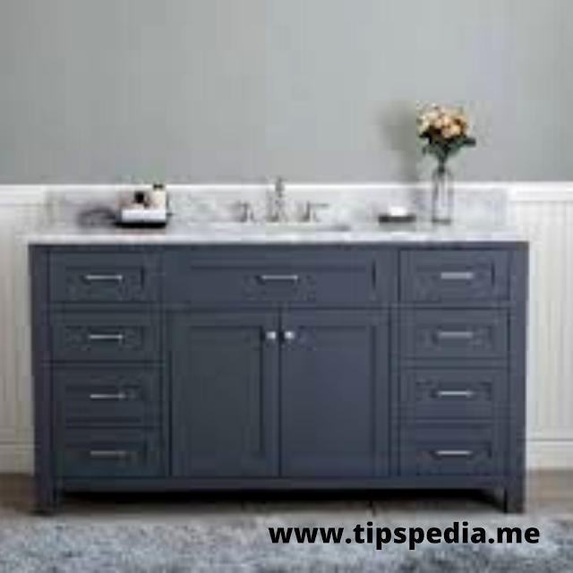 gray shaker bathroom cabinets