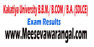 Kakatiya University B.B.M./ B.COM / B.A. (SDLCE) I/II / III Year Supplementary 2015 Revaluation Results