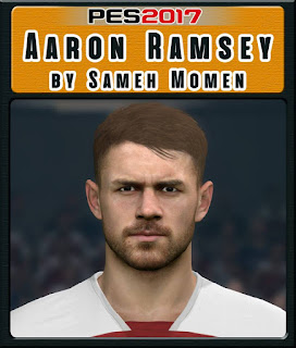 PES 2017 Faces Aaron Ramsey by Sameh Momen