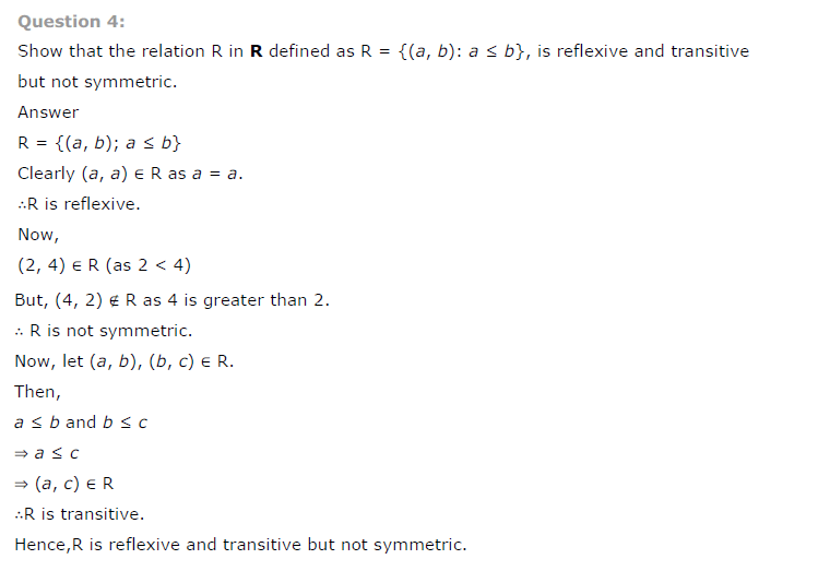 Class 12th Maths Chapter 1 Relations and Functions