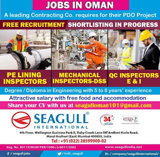 Free Recruitment for PDO Project in Oman