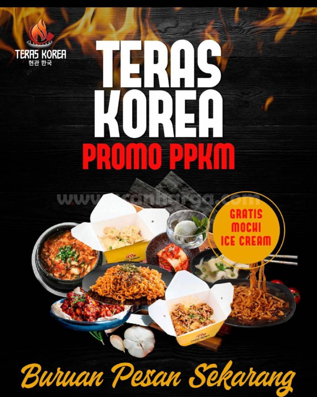 Teras Korea Promo PPKM Gratis Mochi Ice Cream