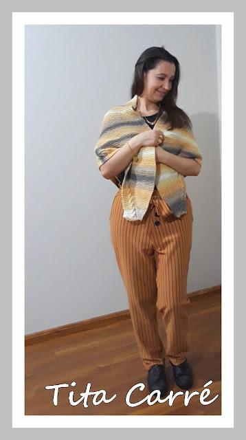 Xale Trigueiro em tricot
