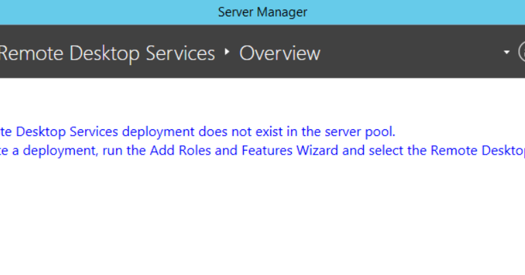 Animus Prime: RDS 2012 R2 - Server Manager Won't Show RDS