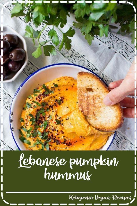 Lebanese pumpkin hummus is a delicious addition to a mezze meal Lebanese pumpkin hummus