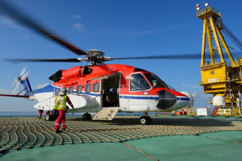 Helicopter Cooper offshore