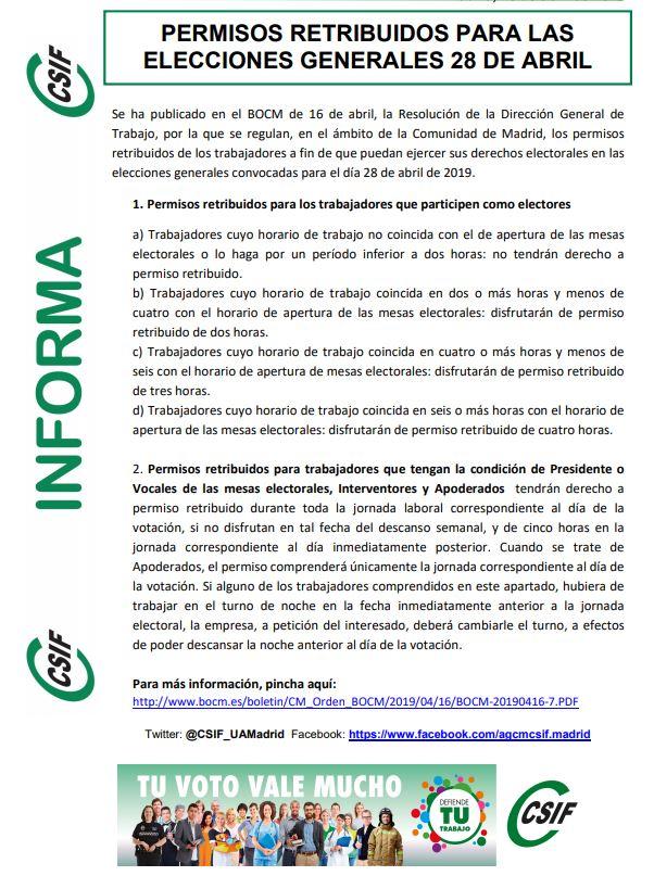 Calendario Laboral 2019 Valladolid Pdf.Csif Diputacion Valladolid Csif Informa Elecciones