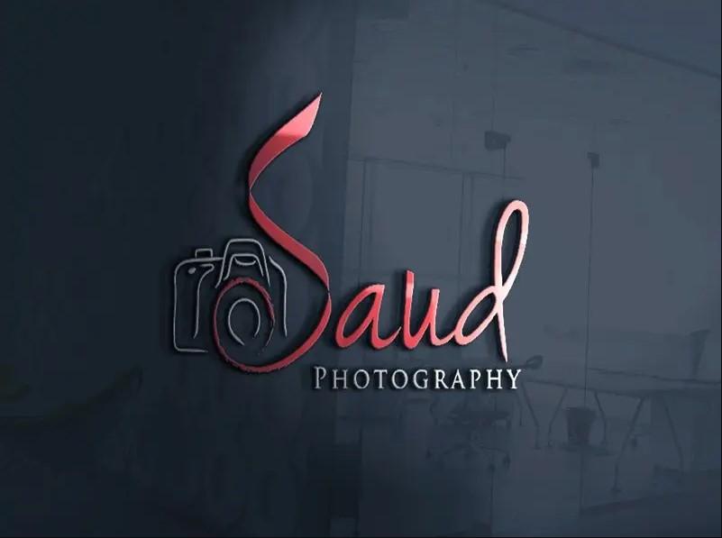 Saud Photography 3D Logo PSD Mockup