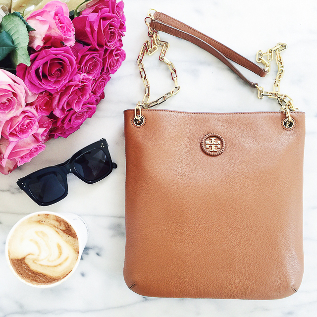 Tory Burch convertible leather crossbody bag