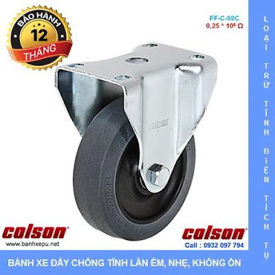Bánh xe đẩy kháng tĩnh điện Colson càng cố định phi 90 | 2-3608-445C www.banhxedayhang.net