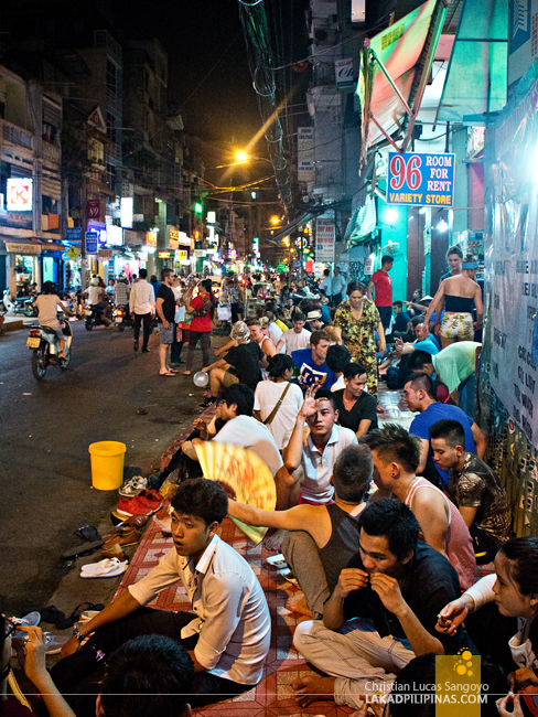 Ho Chi Minh Bui Vien Street Before