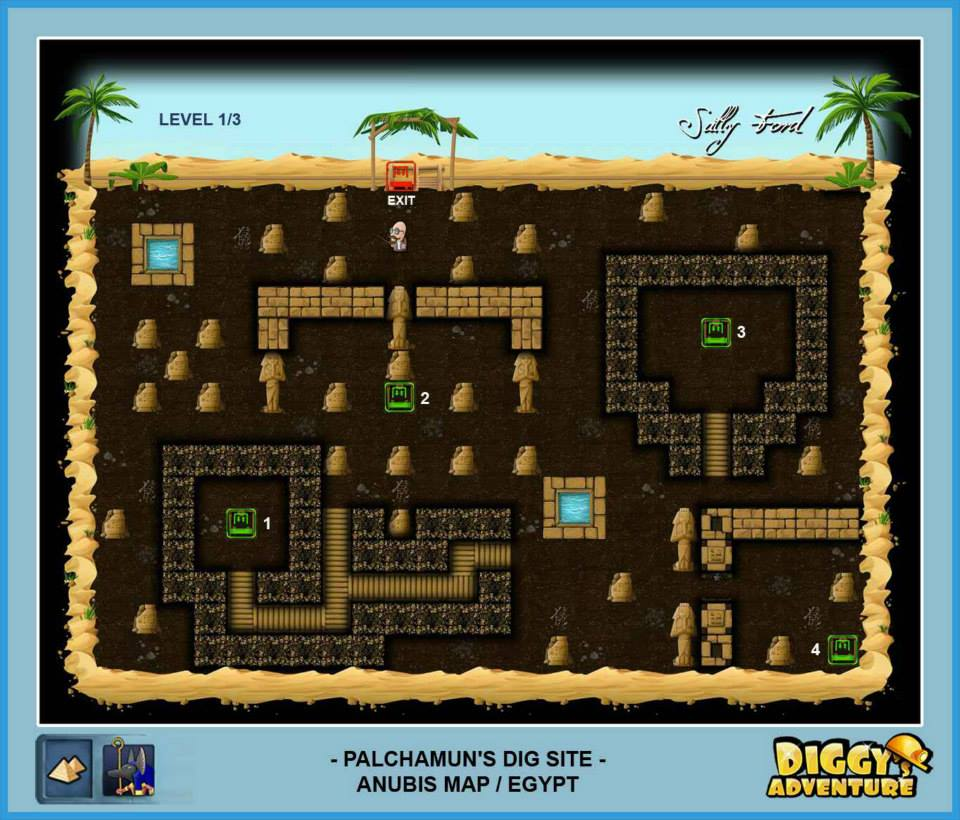Diggy's Adventure Walkthrough: Anubis Egypt Quests / Palchamuns Dig Site