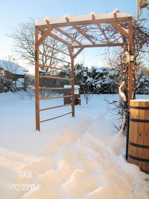pergola w śniegu
