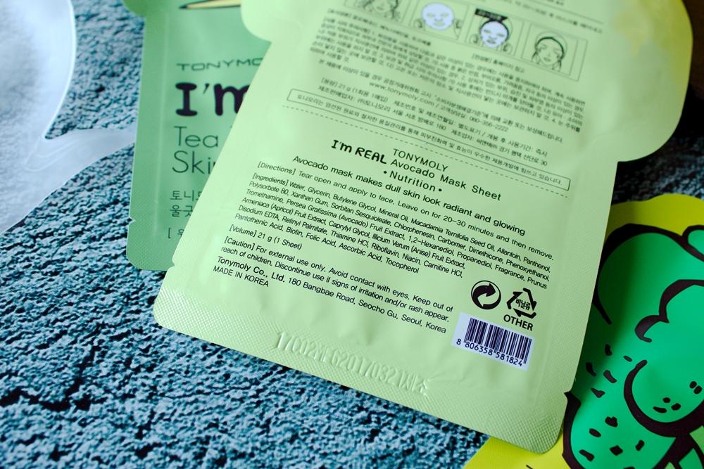 Z wizytą w Azji | Tonymoly, I'm real - recenzja maseczek w płachcie cz.3