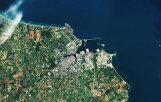 Porto di Brindisi fotografato da Sentinel 2B