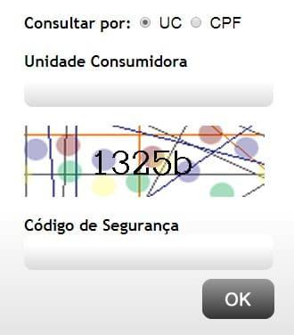 Local para colocar os dados e acessar a 2 via  Eletrobras Alagoas
