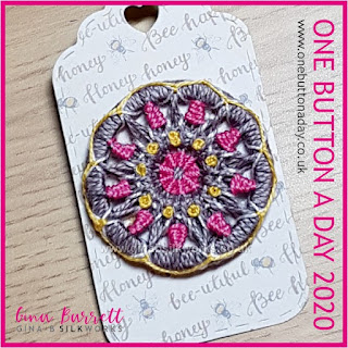 Day 185 : Mandala - One Button a Day 2020 by Gina Barrett