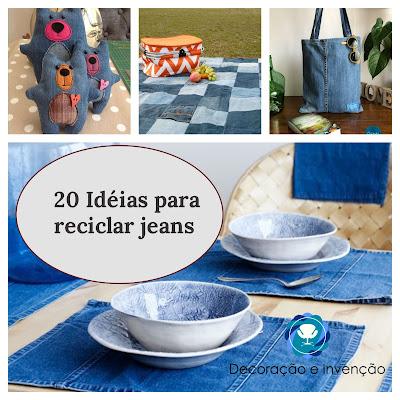 20 Idéias para reciclar Jeans