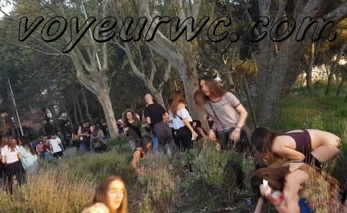 Girls Gotta Go 106 (Voyeur pee videos - Drunk spanish chicks peeing in public at festival)