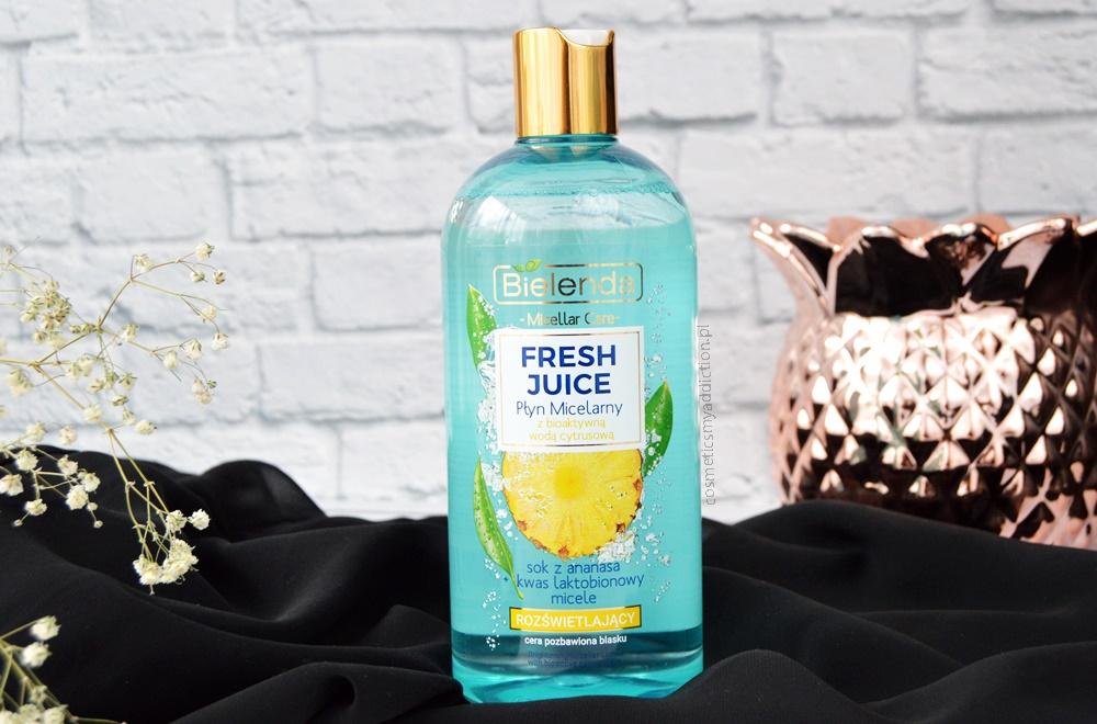 Bielenda, Fresh Juice, rozświetlający płyn micelarny z bioaktywną wodą cytrusową