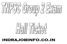 TNPSC Group 2 Hall Ticket 2017