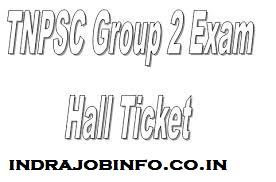 TNPSC Group 2A Hall Ticket 2020
