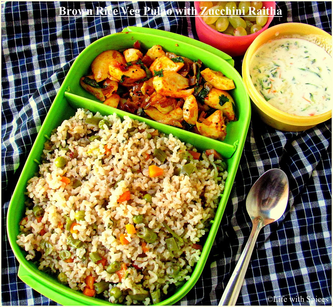 Life With Spices Brown Rice Vegetable Pulao