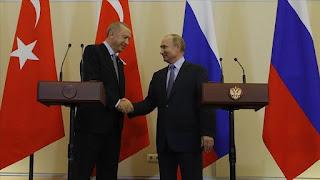 أردوغان يبحث مع بوتين الوضع في ليبيا
