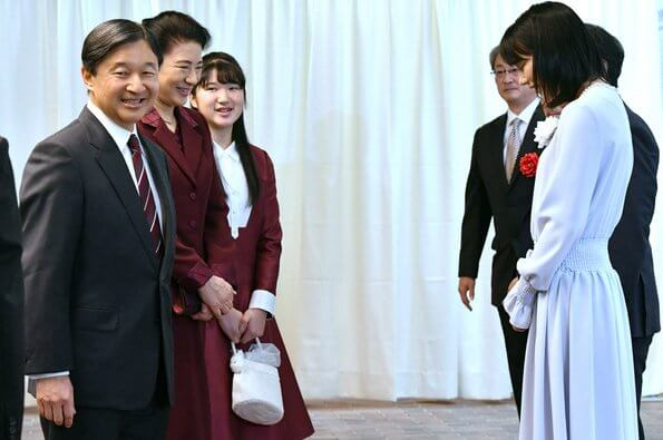 Emperor Naruhito, Empress Masako and Princess Aiko visited Nissho Hall in Tokyo to watch a Japanese animation film