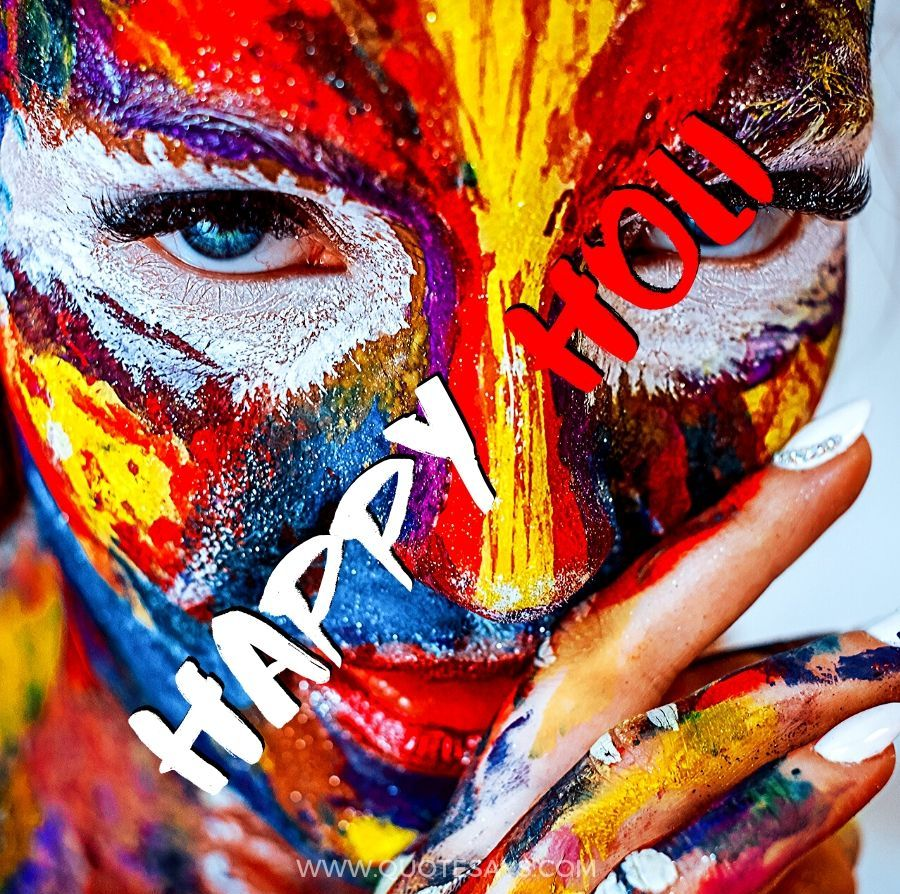 Happy Holi Images of Girl