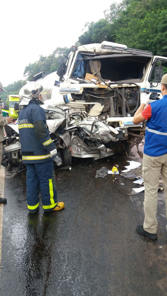 Grave acidente com morte é registrado próximo ao Castelinho na BR 277