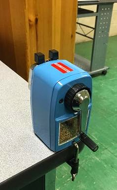 classroom friendly pencil sharpener in place