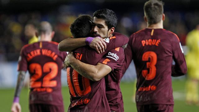 Messi Dan Suarez Cetak Gol, Barcelona Kalahkan Villarreal