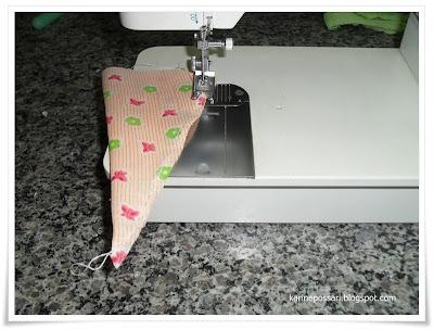 como fazer cenouras de tecido