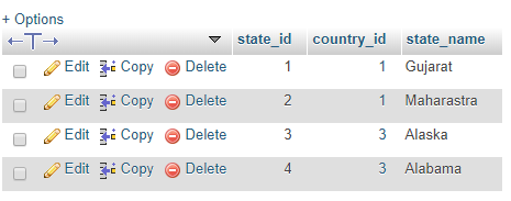 state table dumping data
